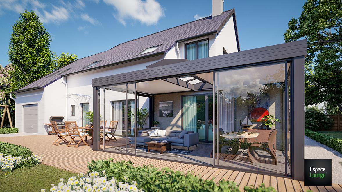 INNOVALU - Pose de véranda à toit plat sur mesure à Limoges